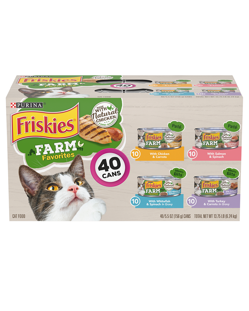 Farm Favorites Wet Cat Food 40 Count Variety Pack