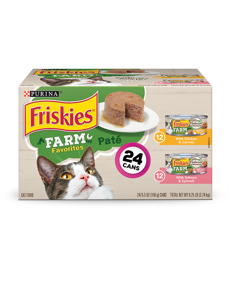 Farm Favorites Wet Cat Food Pate 24 Count Variety Pack