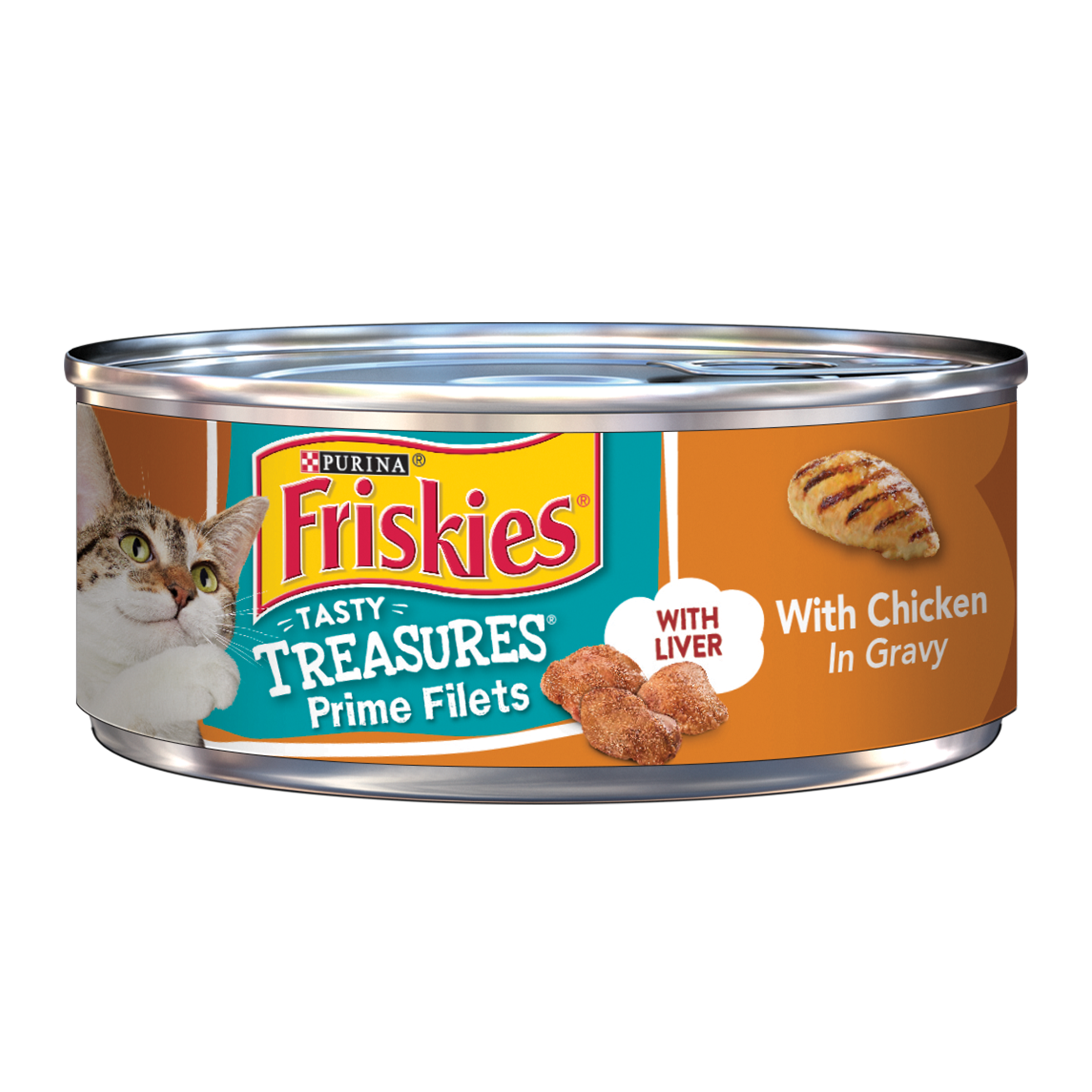 Friskies Tasty Treasures Chicken With Liver in Gravy Wet Cat Food