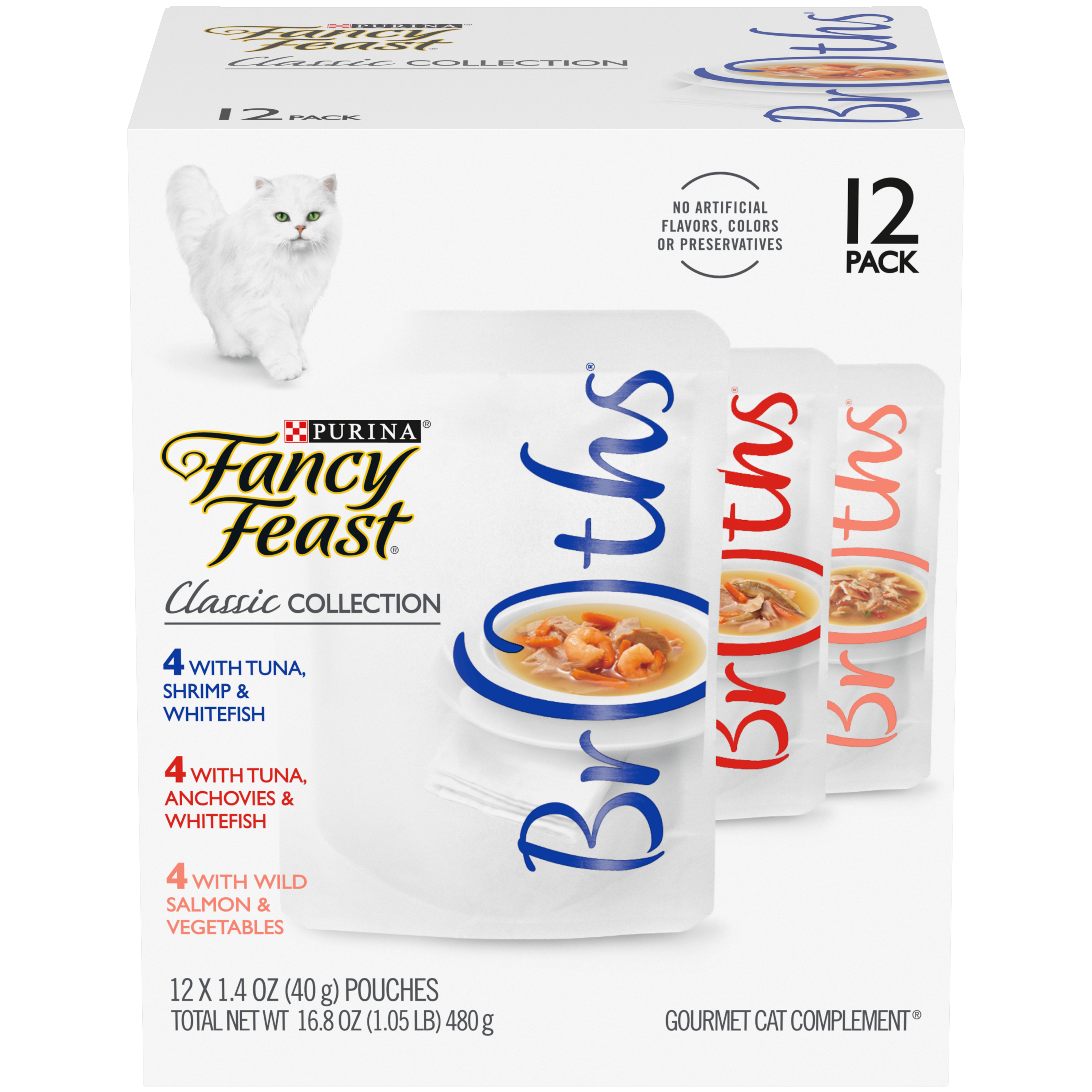 Fancy Feast Broths Classic Twelve Count Variety Pack