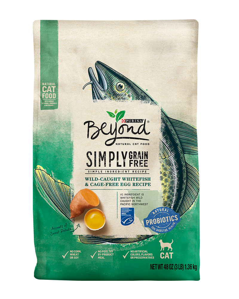 Beyond Simply Grain Free Wild-Caught Whitefish & Cage-Free Egg Recipe Dry Cat Food