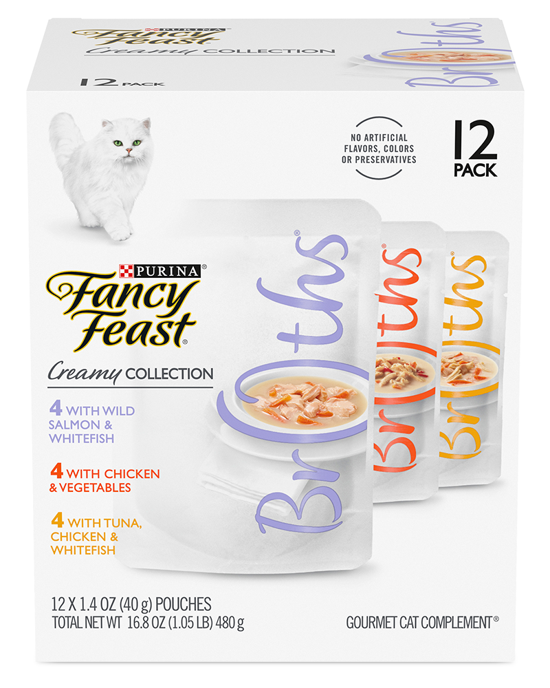 Fancy Feast® Creamy Broths for Cats Wet Cat Food Variety Pack - 12 Pack