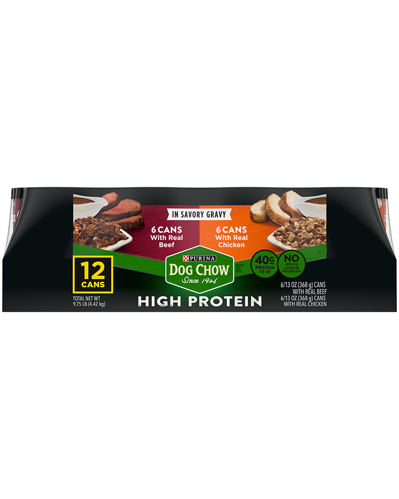 Dog Chow High Protein Gravy Variety Pack