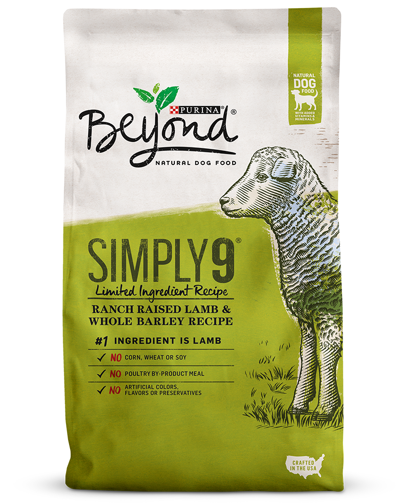 Beyond Simply 9 Ranch Raised Lamb & Whole Barley Recipe Natural Dog Food