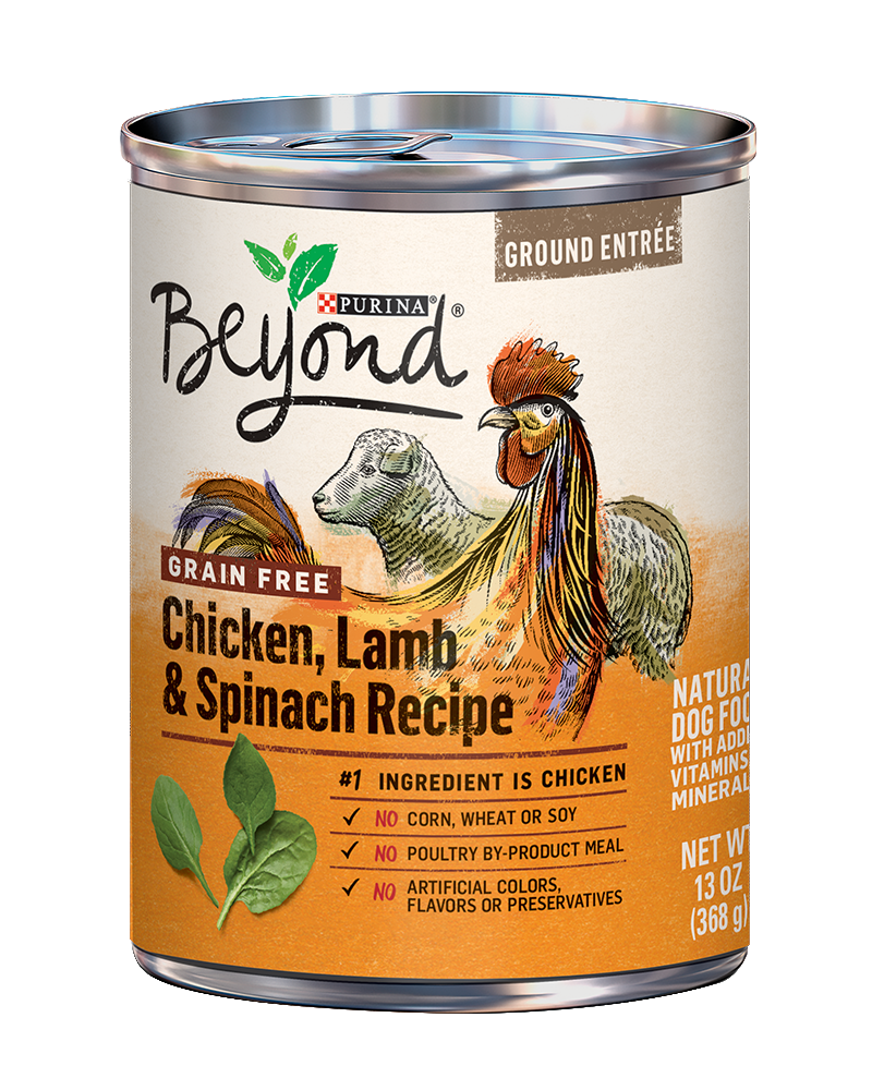 Ground Entrée Grain Free Chicken, Lamb & Spinach Recipe Ground Entrée Wet Dog Food