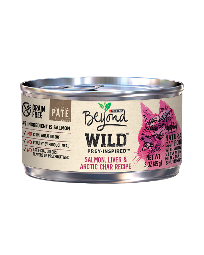 beyond Wild Prey-Inspired Salmon, Liver & Arctic Char Recipe Natural Cat Food