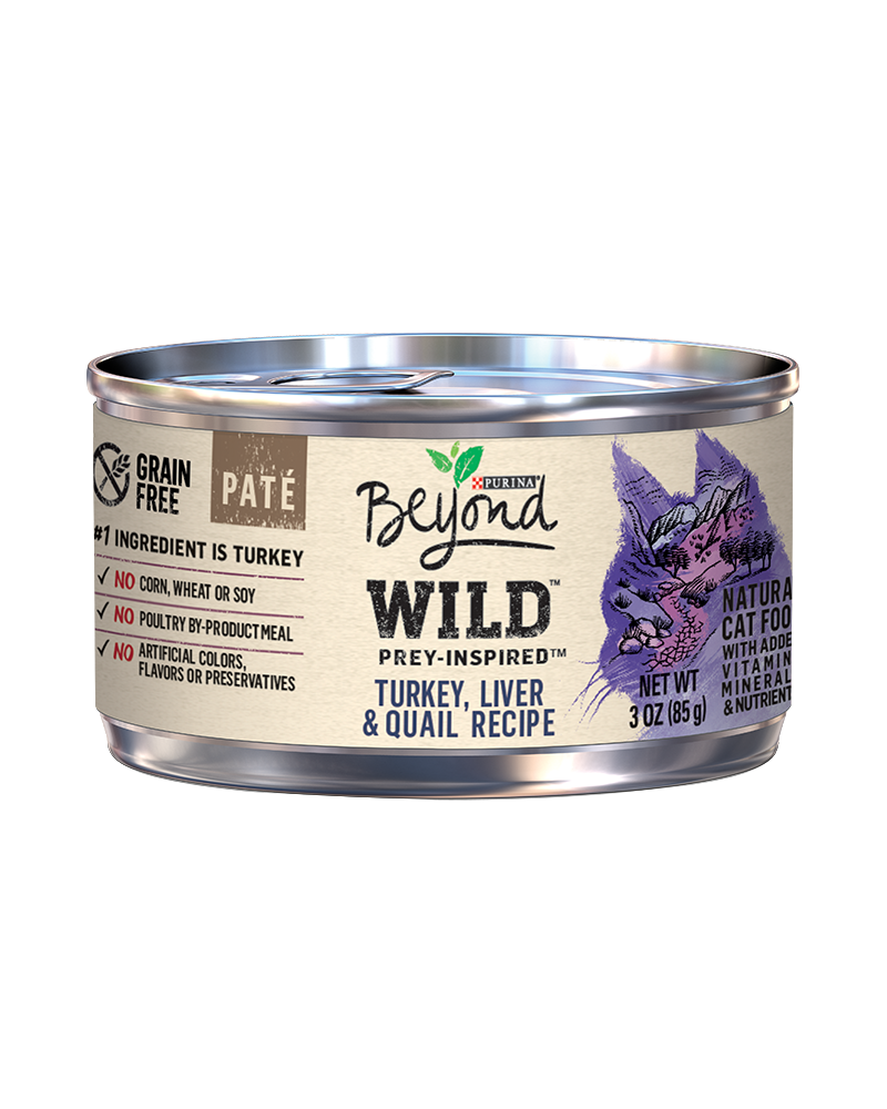Beyond Wild Prey-Inspired Turkey, Liver & Quail Recipe Natural Cat Food