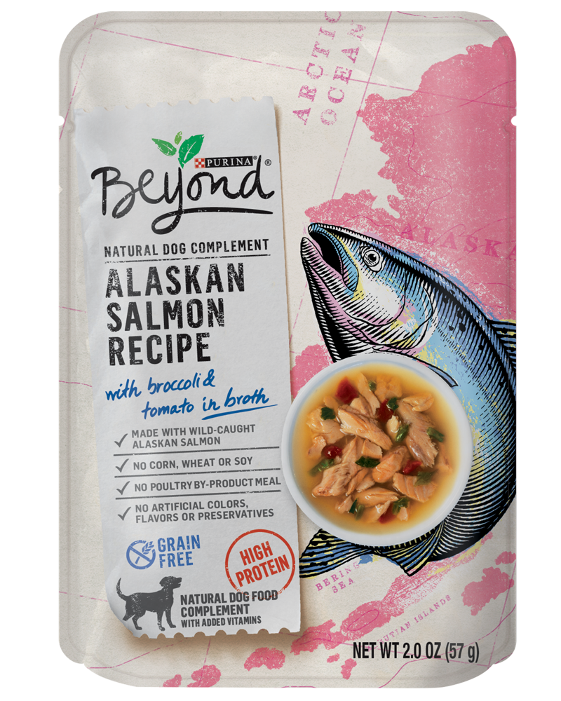 Beyond Alaska Salmon Wet Dog Food Toppers & Complements front