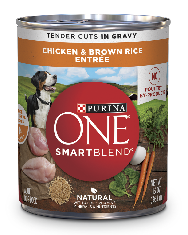 Best Canned Dog Food >> Purina One Smartblend Chicken Brown Rice Entree Tender Cuts In Gravy Wet Dog Food