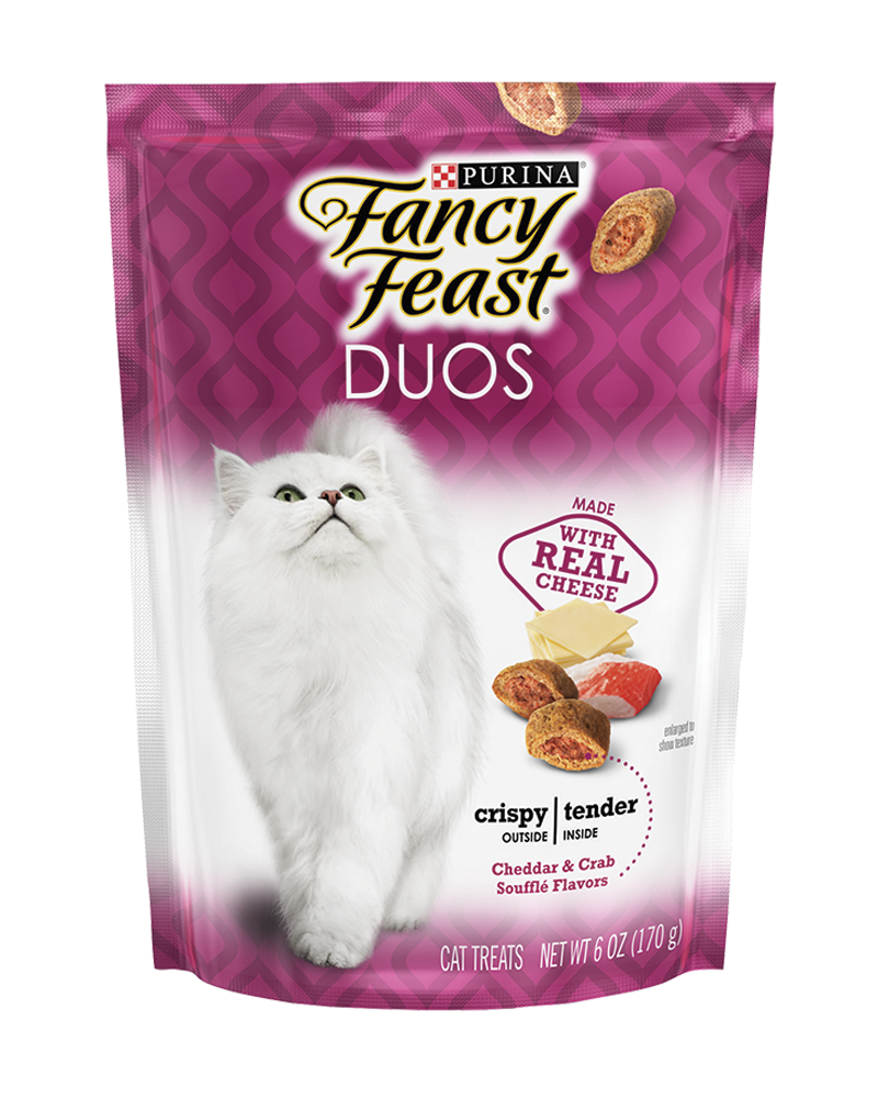 Fancy Feast Duos Cheddar & Crab Soufflé Cat Treats