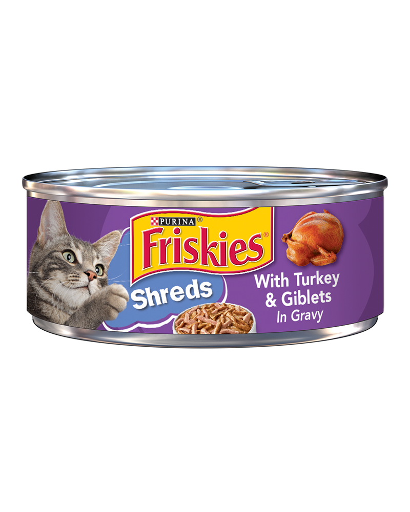 Friskies Savory Shreds With Turkey and Giblets in Gravy