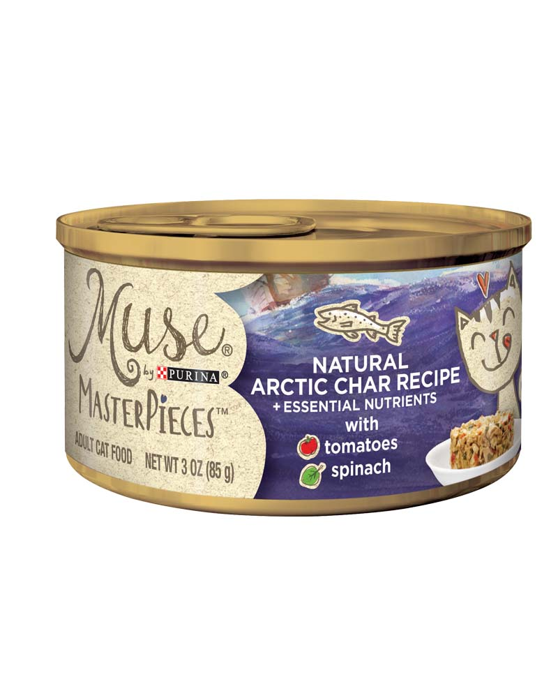 Muse® MasterPieces Natural Artic Char Recipe accented with Tomatoes & Spinach