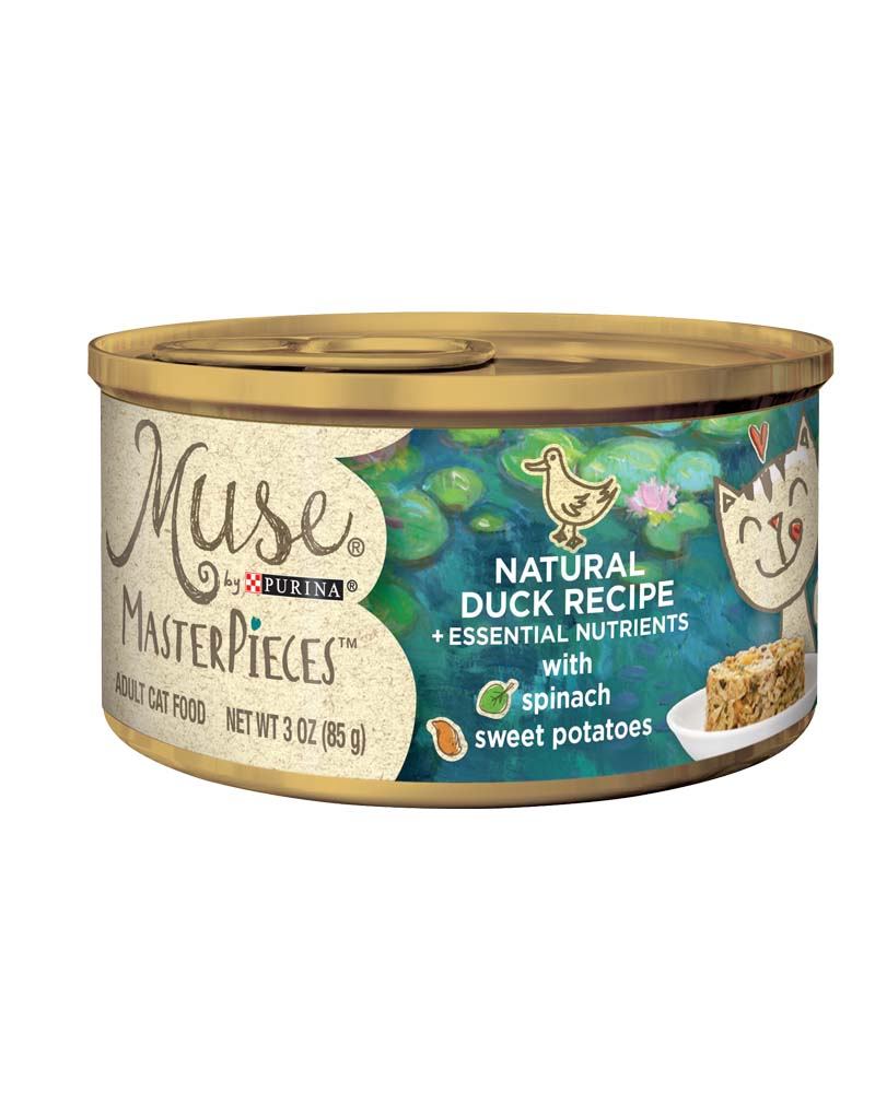 Muse® MasterPieces Natural Duck Recipe accented with Spinach & Sweet Potato