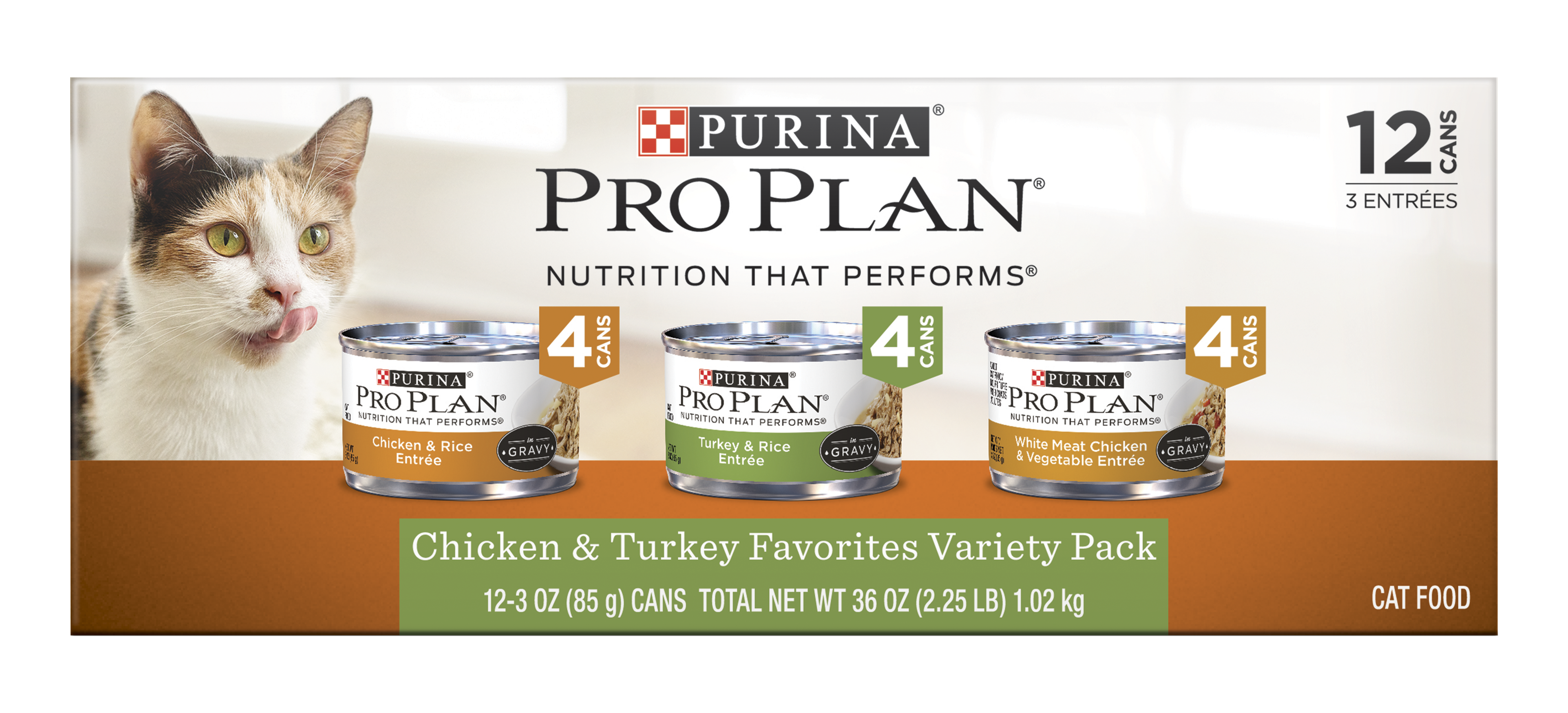 Pro Plan Chicken & Turkey Cat Food Variety Pack