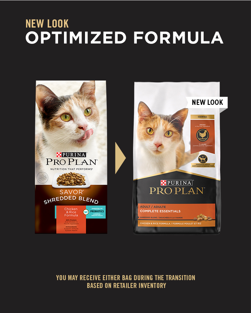 Purina Pro Plan Complete Essentials Shredded Blend Chicken & Rice Formula