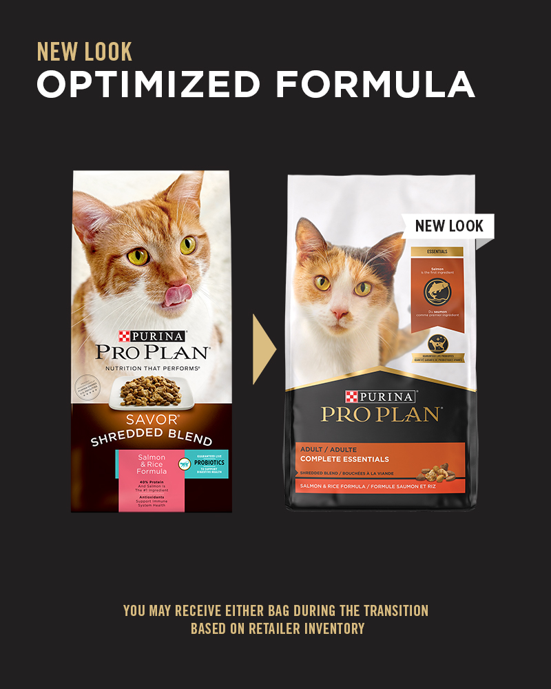 Purina Pro Plan Complete Essentials Shredded Blend Salmon & Rice Formula