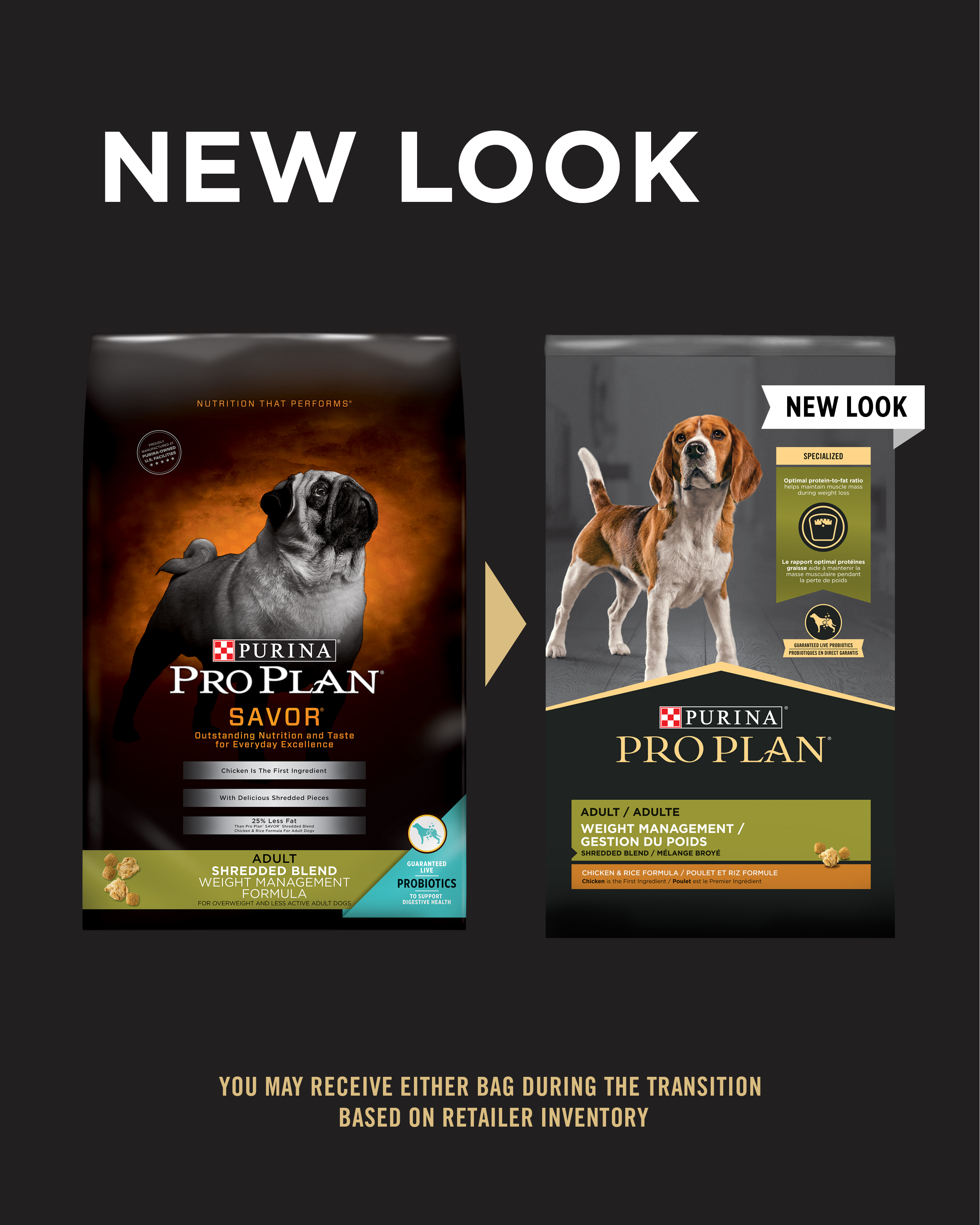 Purina Pro Plan Specialized Weight Management Shredded Blend Chicken & Rice Formula