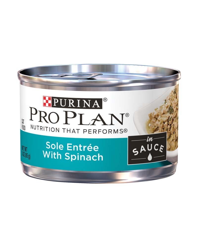 ProPlan Adult Sole Entree With Spinach Braised in Sauce