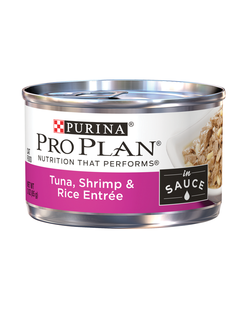 Pro Plan Adult Tuna, Shrimp & Rice Entree in Sauce