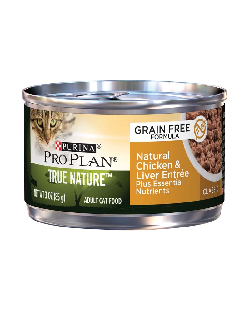 True Nature Adult - Grain Free Formula Natural Chicken & Liver Entree Classic - Plus Essential Nutrients
