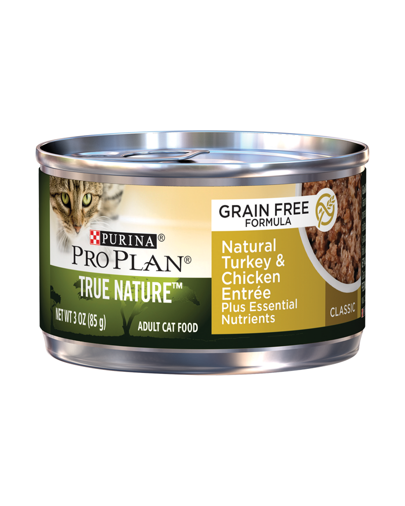 Pro Plan True Nature Adult Grain Free Formula Natural Turkey & Chicken Entree Classic