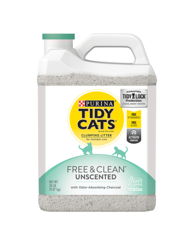 Tidy Cats® Free & Clean® Unscented Clumping Cat Litter