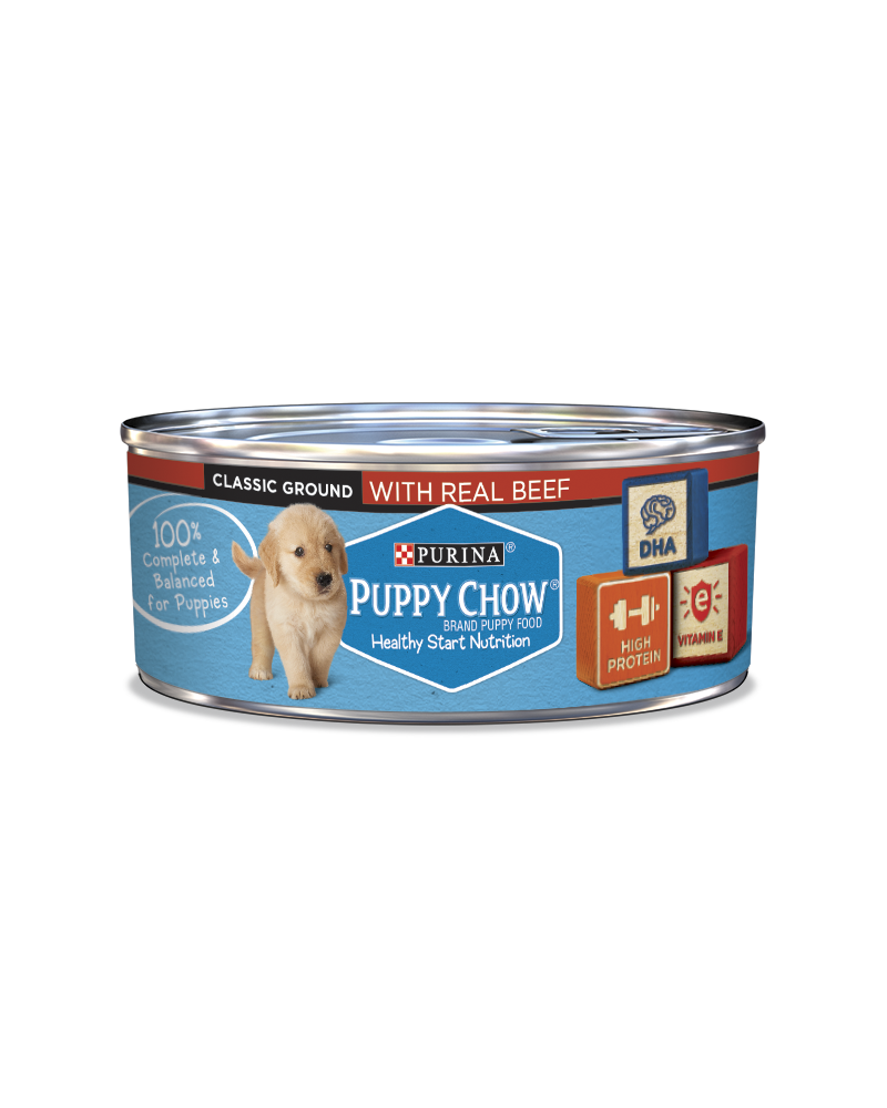 Purina Puppy Chow Wet Puppy Food With Real Beef