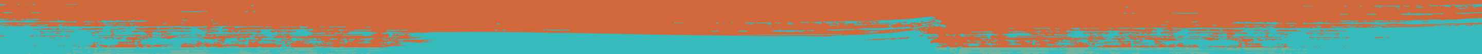 Beyond - Orange to Purina Teal Divider