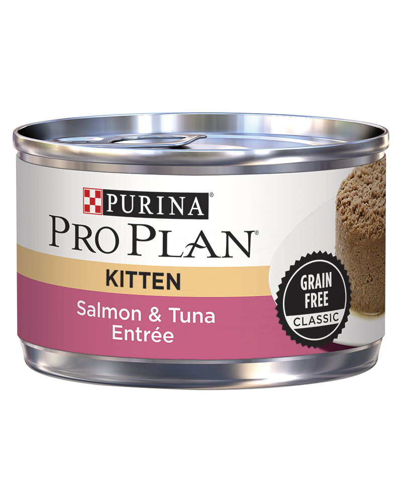 Purina Pro Plan Kitten Salmon & Tuna Entrée Grain Free Classic Kitten Food