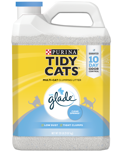 Tidy Cats® With Glade® Clear Springs® Clumping Cat Litter for multiple cats