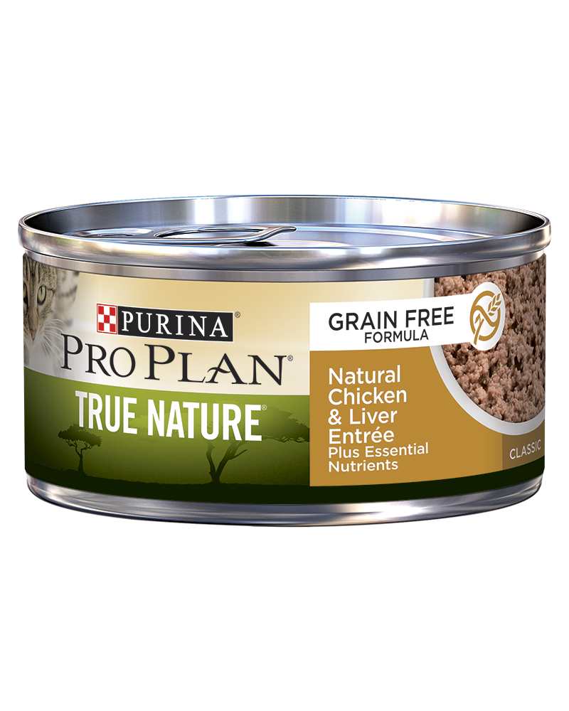 Purina Pro Plan True Nature Adult Grain Free Formula Natural Chicken & Liver Entrée Classic Wet Cat Food
