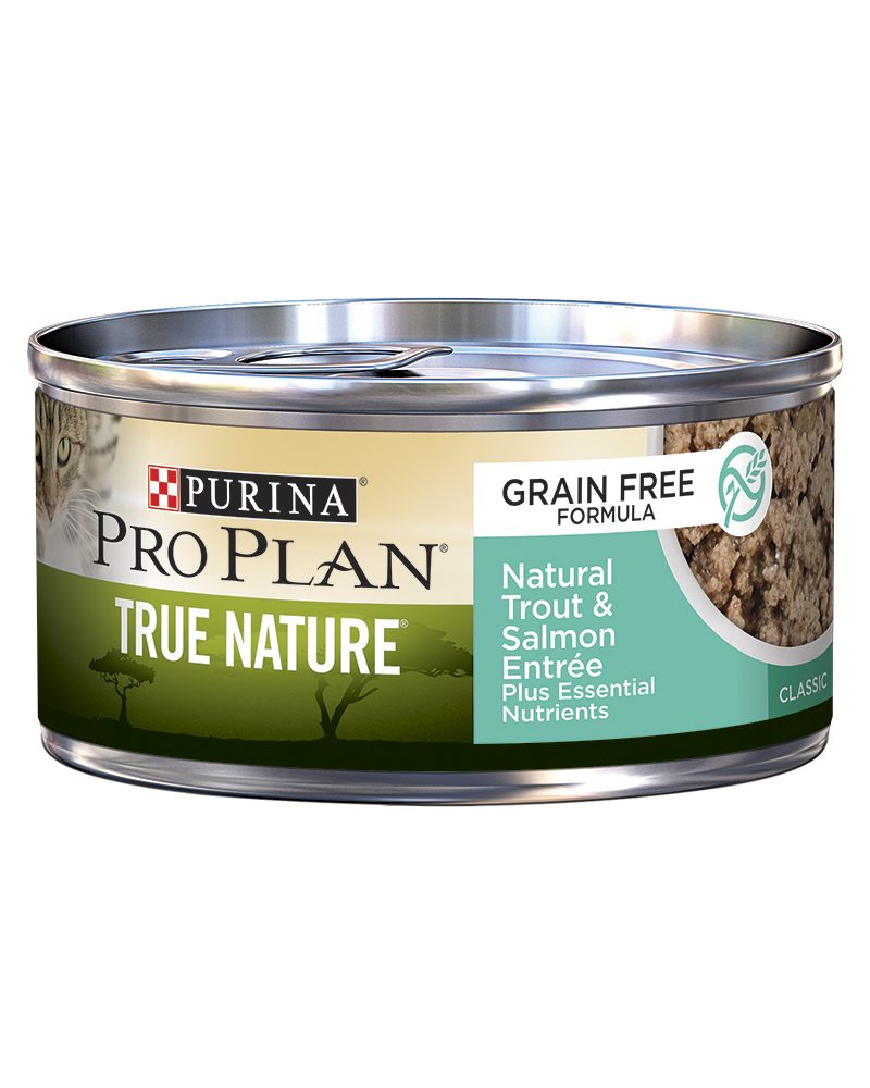 Purina Pro Plan True Nature Grain Free Formula Natural Trout & Salmon Entrée Classic Wet Cat Food