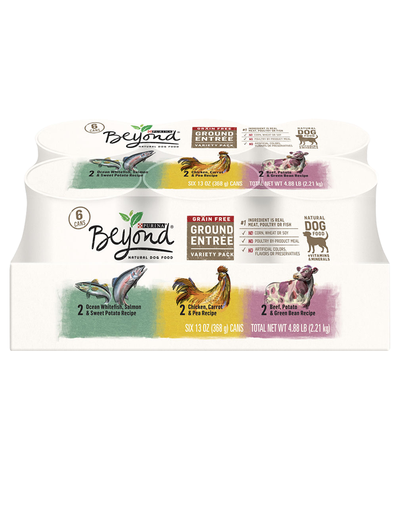 Beyond Chicken, Beef & Whitefish Wet Dog Food variety pack 6ct.