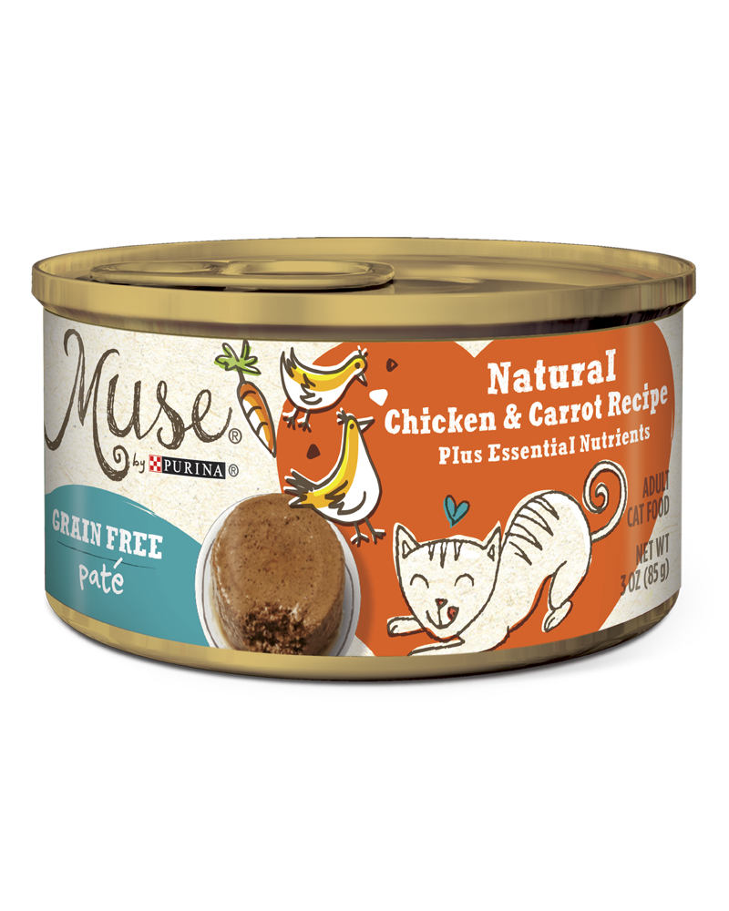 Muse Natural Grain Free Pate Cat Food With Chicken Carrot Purina