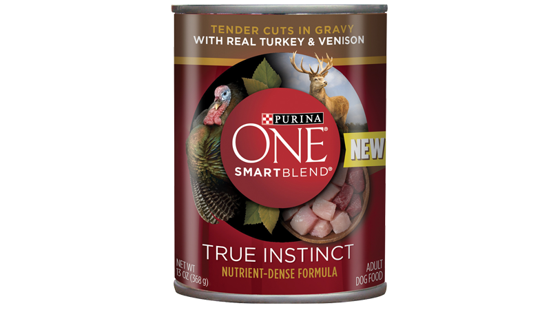 Purina One® SmartBlend True Instinct With Real Turkey & Venison Tender Cuts In Gravy Entrée