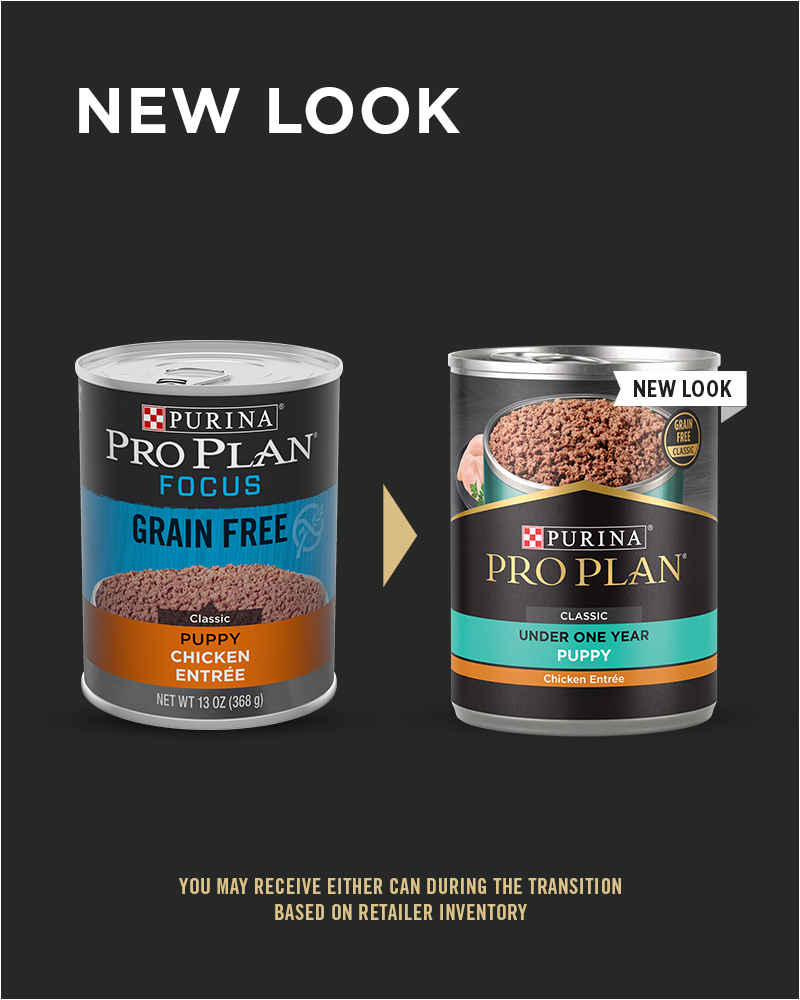 New Look Purina Pro Plan Development Grain Free Puppy Classic Chicken Entrée Classic Wet Dog Food