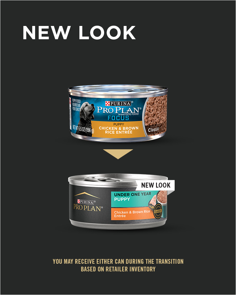 New Look Purina Pro Plan Development Puppy Chicken & Brown Rice Entrée Classic