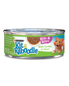 Kit & Kaboodle Bits and Bites with Turkey in Sauce Wet Cat Food