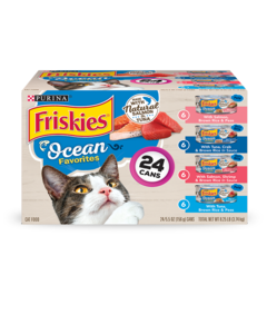 Friskies Ocean Favorites Wet Cat Food 24 Count Variety Pack