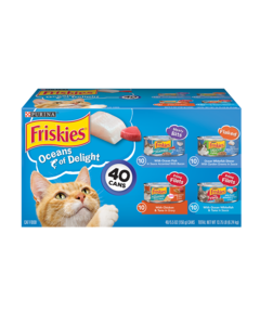 Friskies Oceans of Delight Wet Cat Food Variety Pack 40 Count