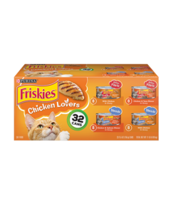Friskies Chicken Lovers Wet Cat Food Variety Pack 32 Count