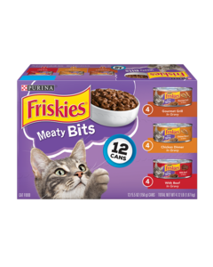 Friskies Meaty Bits Wet Cat Food Variety Pack 12 Count