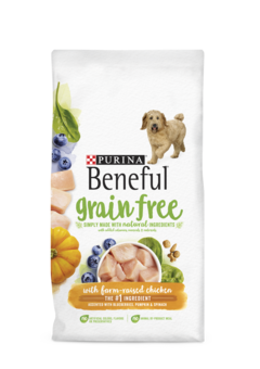 beneful grain free chicken packaging
