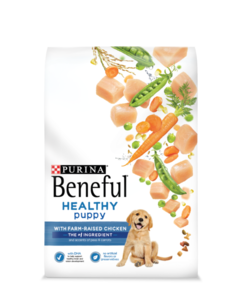 Beneful Healthy Puppy chicken packaging