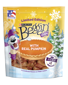 Beggin Strips with Pumpkin limited edition dog treats