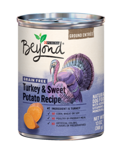 Ground Entrée Grain Free Turkey & Sweet Potato Recipe Ground Entrée Wet Dog Food