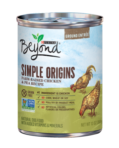Simple Origins Grain Free Free-Range Chicken & Pea Recipe Ground Entree Dog Food