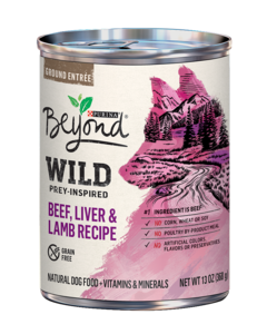 Beyond Wild Prey-Inspired Beef, Liver & Lamb Recipe Natural Dog Food Plus Vitamins & Minerals