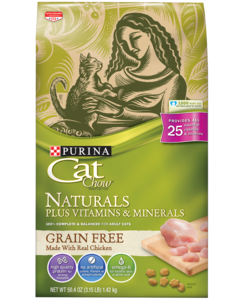 Cat Chow Natural Grain Free Front