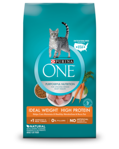 ONE ideal weight high protein dry cat food